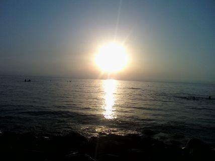 coucher du soleil sur la baie des AFTIS (Jijel)